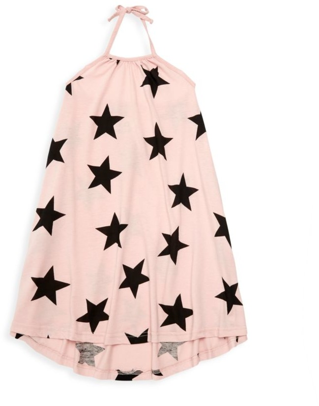Nununu Little Girl's Star-Print Halter Shift Dress