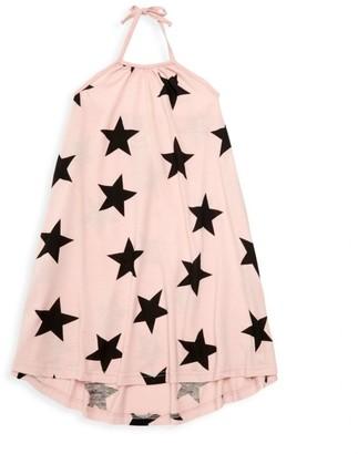 Nununu Little Girl's Star-Print Halter Shift Dress