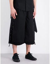 Craig Green Lace-detail Cotton Shorts