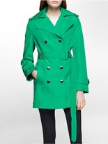 Calvin Klein Bonded Poly Trench Coat