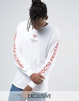 Hype Long Sleeve Tee With Russian Arm Text