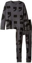Nununu Super Soft Punctuation Print Loungewear Set (Little Kids/Big Kids)