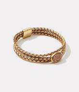 LOFT Druzy Braided Bracelet