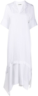 Jil Sander Pleated Front Asymmetric Dress