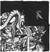 DSQUARED2 tattoo printed scarf - men - Modal - One Size