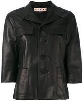 Marni button-up jacket - women - Lamb Skin - 42