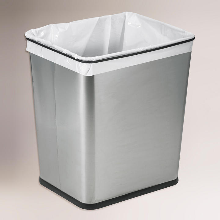 Cost Plus World Market 7-Gallon Stainless Steel Under the Sink Trash Can