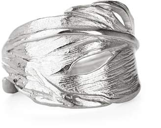 Chupi Swan Feather Ring in Silver