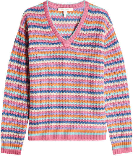 Marc Jacobs Striped Cashmere Pullover