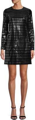 Vince Camuto Long-Sleeve Metallic Sheath Dress