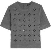 Marc by Marc Jacobs Anja Embellished Stretch Wool-Blend Top