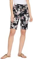Isaac Mizrahi Live! Regular 24/7 Stretch Tropical Floral Bermuda Shorts