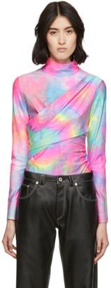Sies Marjan Multicolor Glitter Tie -Dye Peyton Turtleneck