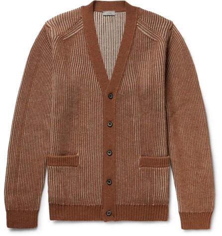 Lanvin Ribbed Merino Wool And Alpaca-Blend Cardigan
