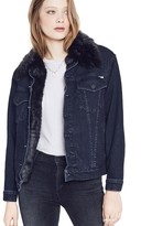 Mother Furry Drifter Jacket In Black Cat Fever