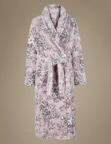 Marks and Spencer Shimmer Print Floral Dressing Gown