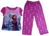 Disney Frozen Big Girls' Anna and Elsa Back to Back Pajama Set (Small,)