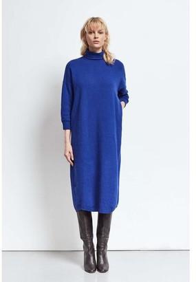 Humanoid Cobalt Longsleeve Turtle Neck Dress - XL