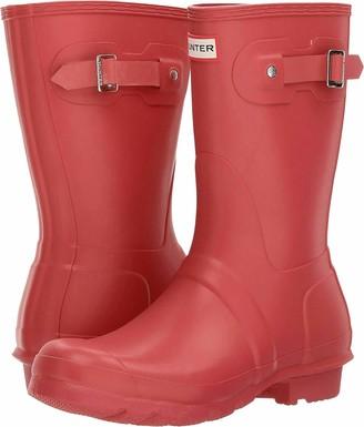 Hunter Short Women's Wellington Boots Red (Military Red) 4 UK (37 EU)