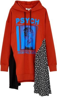McQ Psych printed cotton sweatshirt dress