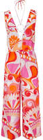 Emilio Pucci Nigeria Embellished Printed Cotton And Silk-blend Jumpsuit - Pink