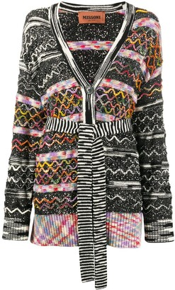 Missoni Graphic Mixed Print Cardigan