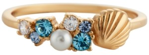 Olivia Burton Swarovski Crystal & Imitation Pearl Shell Statement Ring