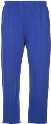 Raquel Allegra Cosmos fleece cropped track pants