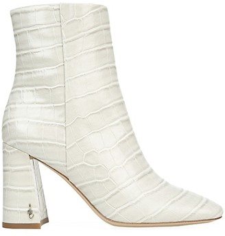 Sam Edelman Codie Croc-Embossed Leather Ankle Boots