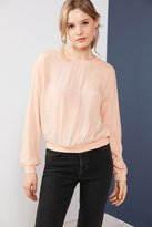 Silence & Noise Silence + Noise Reyes Textured Pullover Blouse
