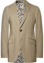 Etro Beige Slim-Fit Stretch-Cotton Suit Jacket