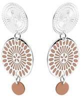 Skalli Sakura SUB10 Women's Pink and Resin Drop Earrings Brass