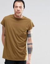 Asos Oversized Sleeveless T-shirt In Brown