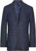 Ermenegildo Zegna - Navy Slim-fit Prince Of Wales Checked Woven Blazer