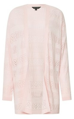Dorothy Perkins Womens Blush Crochet Cardigan
