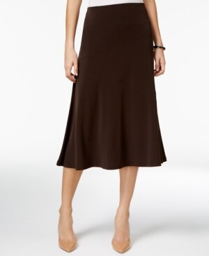 JM Collection Petite Diagonal-Seam Midi Skirt, Created for Macy's