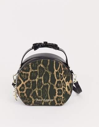 Juicy Couture Juicy Black Label burnett circle bow bag in leopard print-Multi