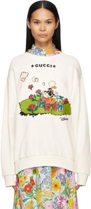 Gucci White Disney Edition Donald Duck Sweatshirt