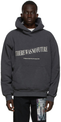 Mr. Saturday Black Embroidered No Future Hoodie