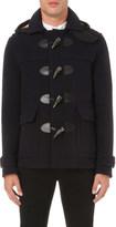 Burberry Checked hood wool-blend duffle coat