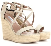 Tabitha Simmons Jenny 110 Canvas Wedge Sandals