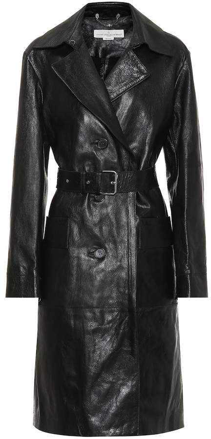 Golden Goose Belted leather trench coat