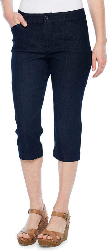 ST. JOHN'S BAY Secretly Slender Twill Capri Pant - Tall Inseam 20