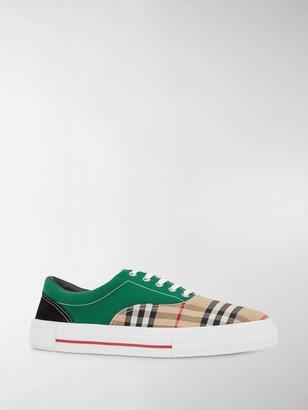 Burberry Vintage Check colour-block sneakers