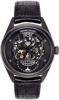 Romain Vollet Motor Skull 555 Deepblack skeleton watch
