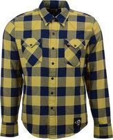 Levi's Men's Los Angeles Rams Plaid Barstow Western Long-Sleeve Shirt