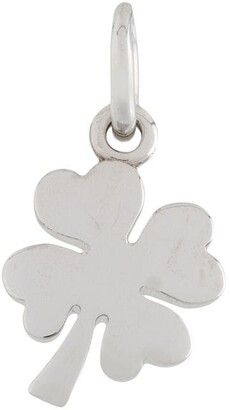 Dodo 18kt white gold One In A Million four-leaf clover pendant