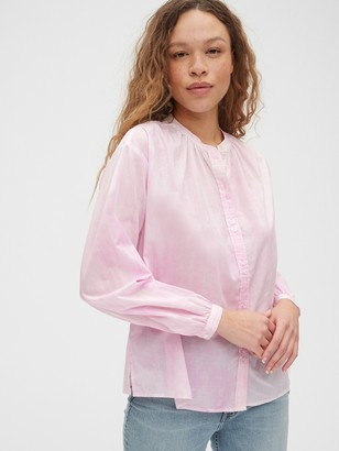 Gap Double Button Band-Collar Shirt