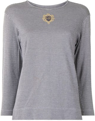 Christian Dior pre-owned Sports houndstooth long-sleeved T-shirt