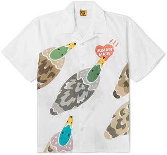 Human Made Camp-Collar Printed Cotton-Poplin Shirt